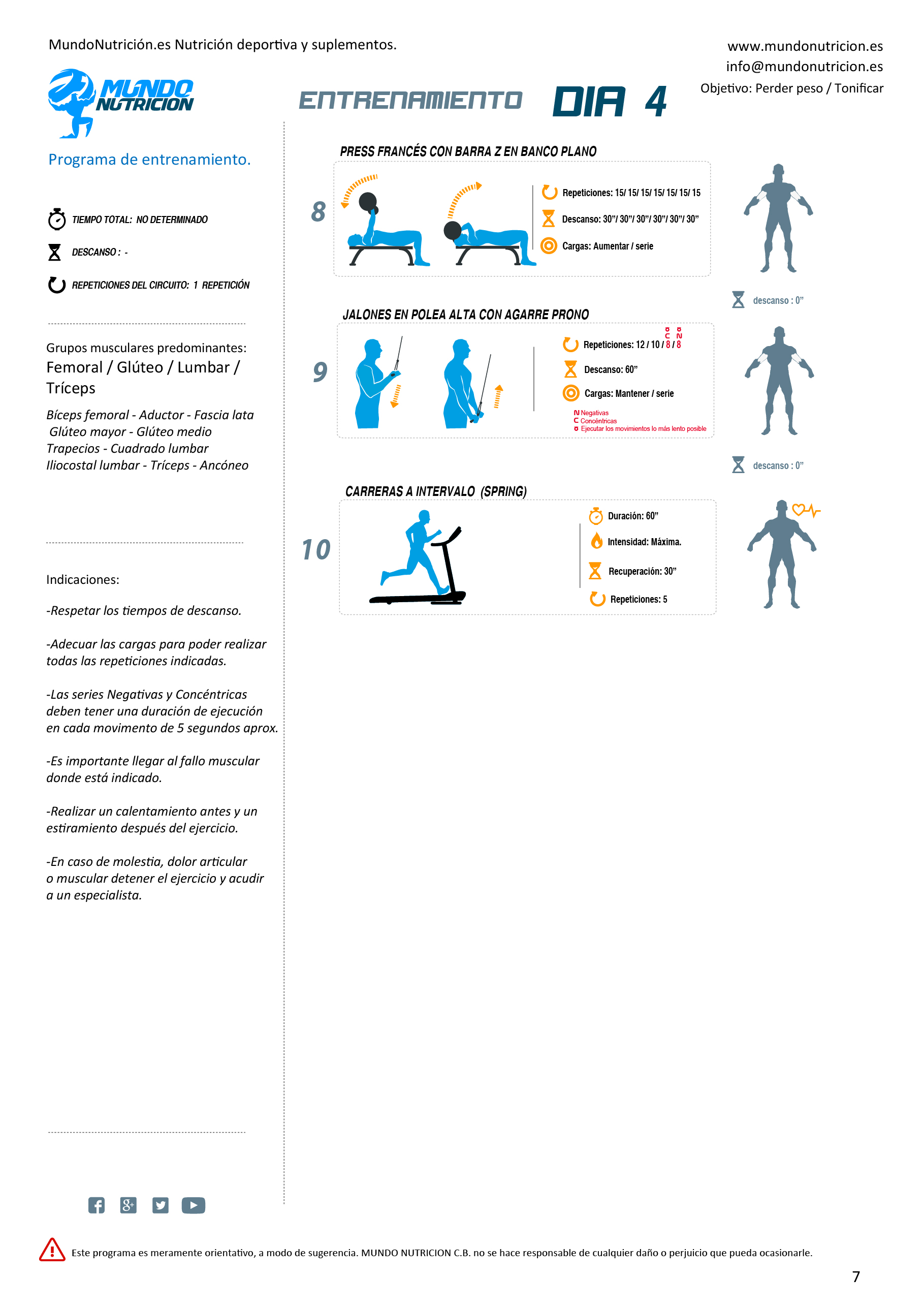 Día 4 femoral gluteo lumbar triceps